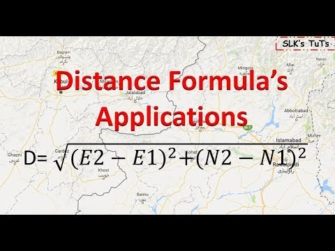 Land Survey :  Applications of Distance Formula in daily life.