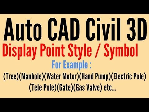 Display Point Style and Symbol in Auto CAD Civil 3D Professional Lecture