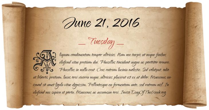 June 16th 2016