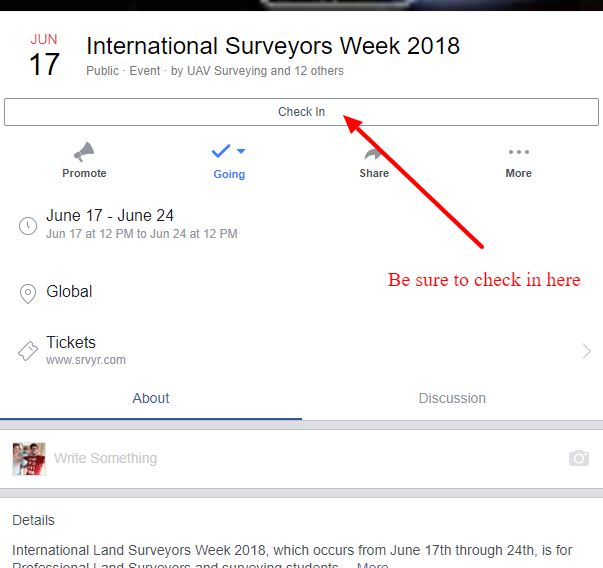 Checkin On the Facebook Event Page