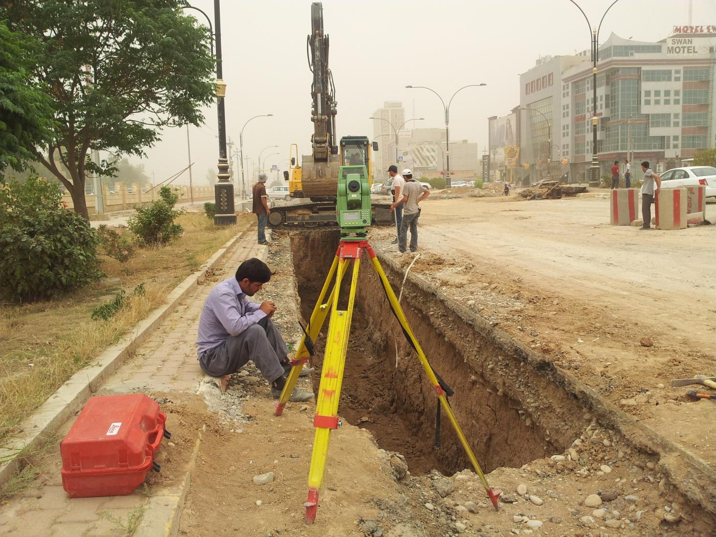 Overpass Surveying Iraq