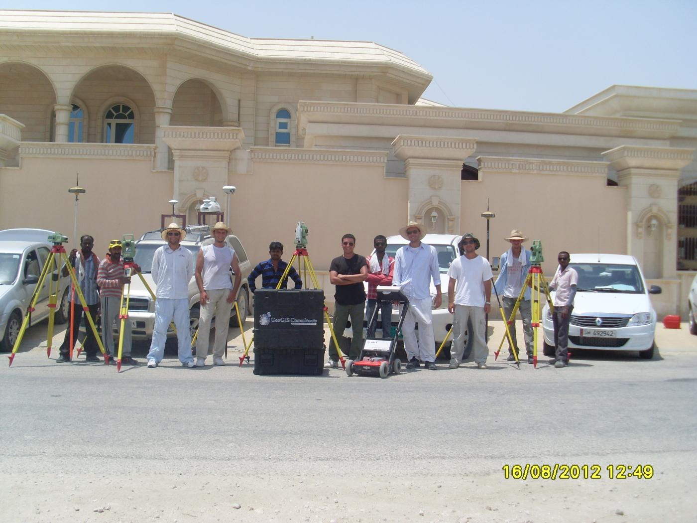 GeoGIS survey team in Qatar