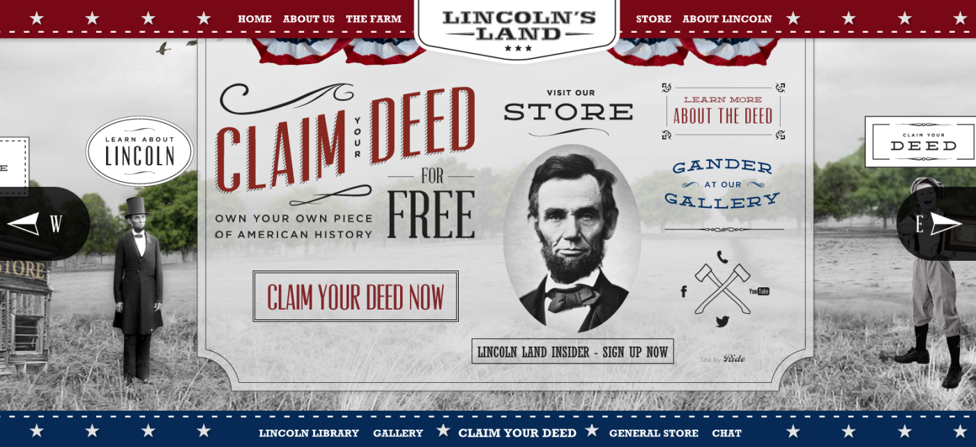 Lincoln's Land Website