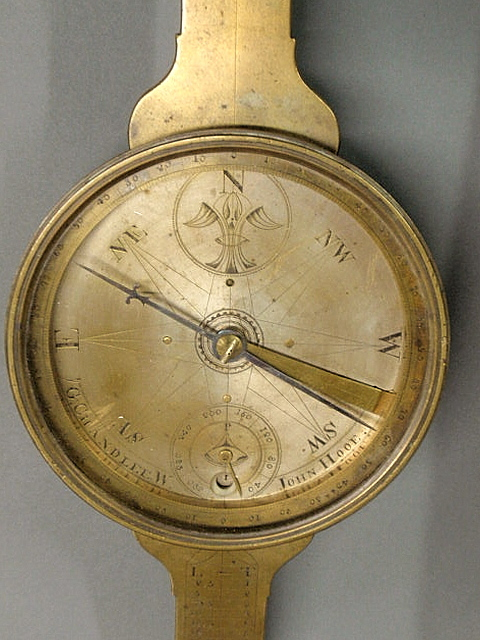 GOLDSMITH CHANDLEE PLAIN COMPASS DIAL with SIGNATURES (John Hooe) -3