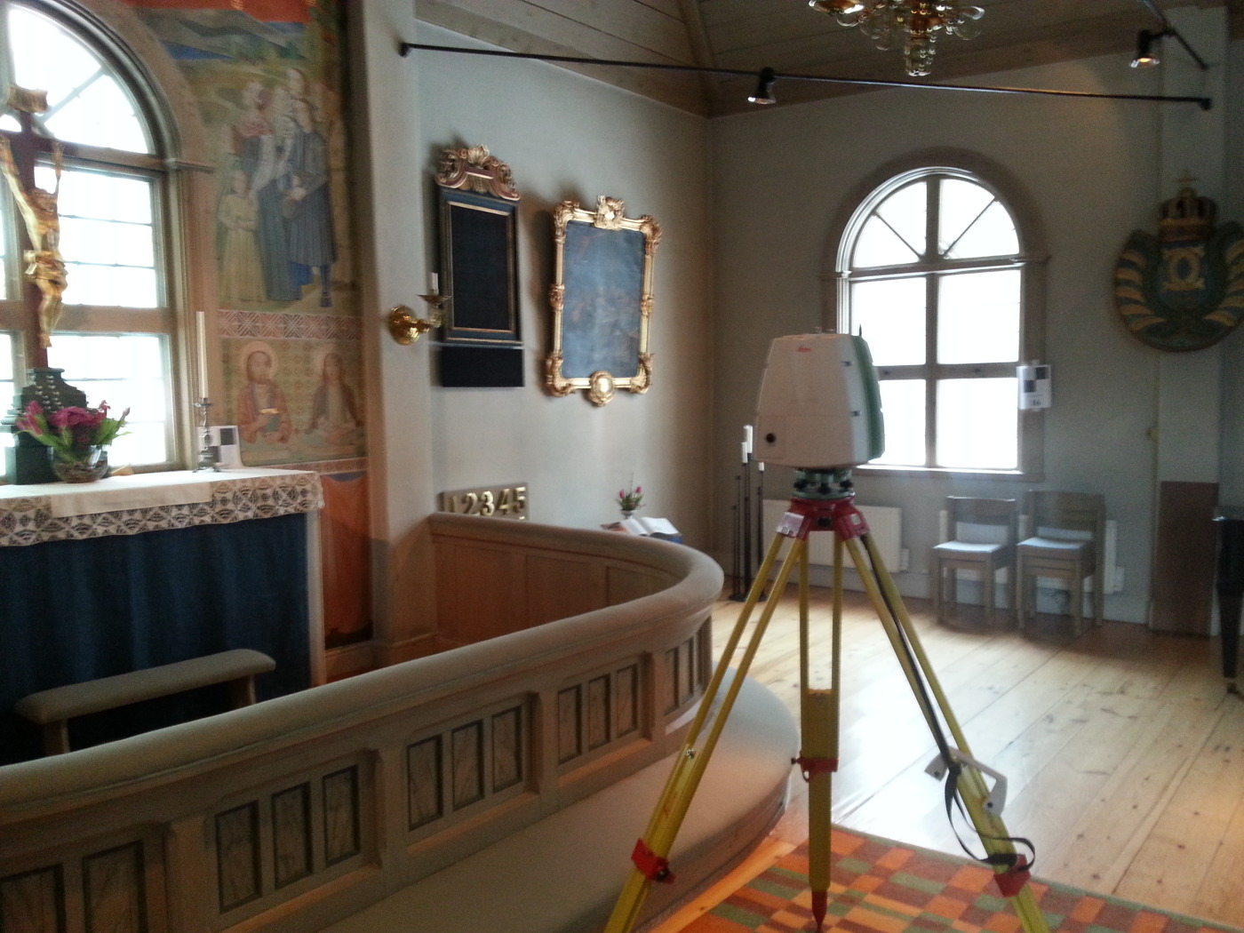 Scanning of a church inside