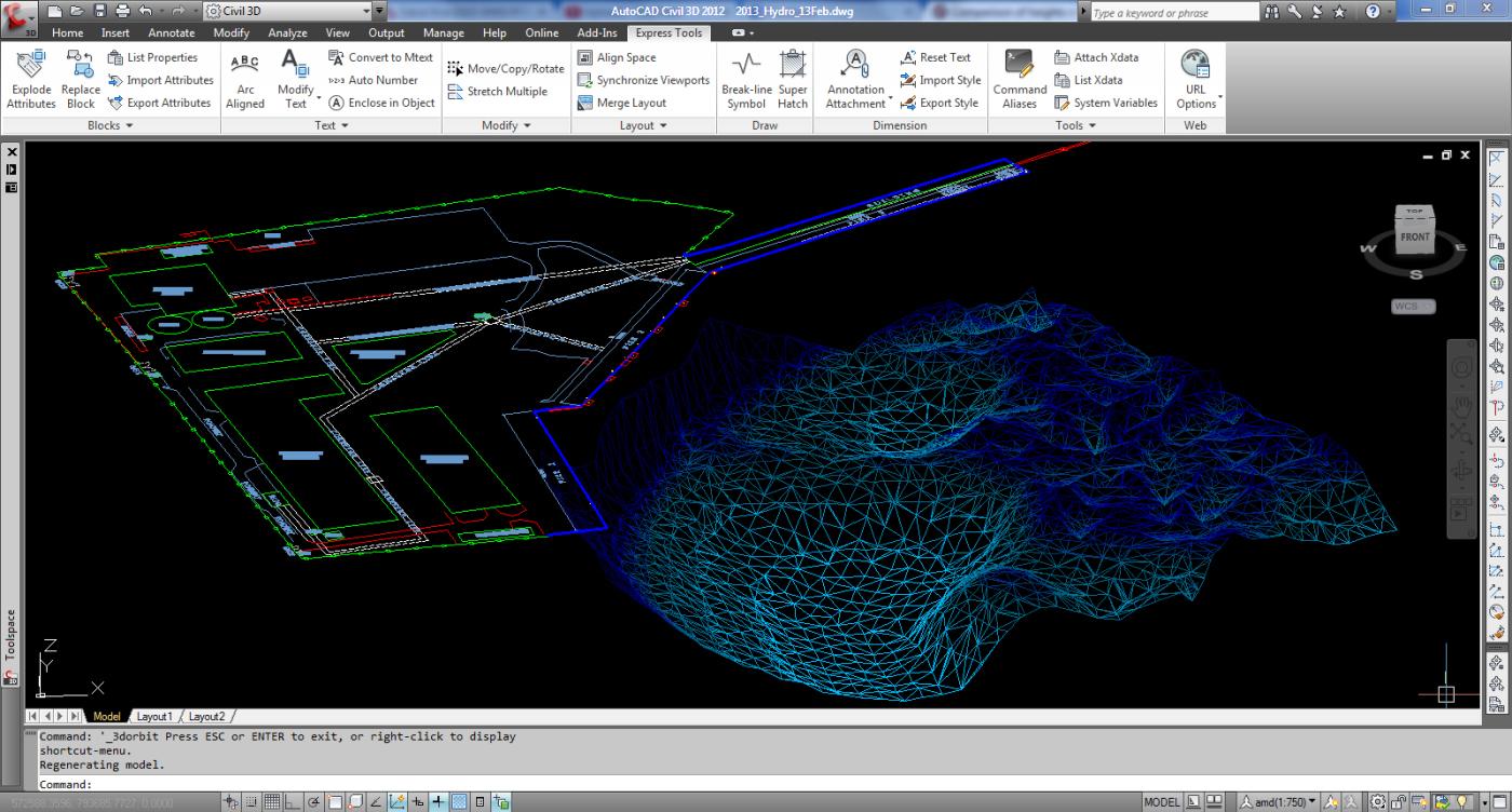3D View: Hydrographic Survey