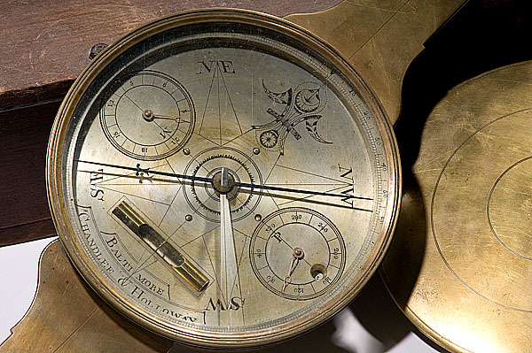 CHANDLEE & HOLLOWAY PLAIN COMPASS DIAL with SIGNATURE