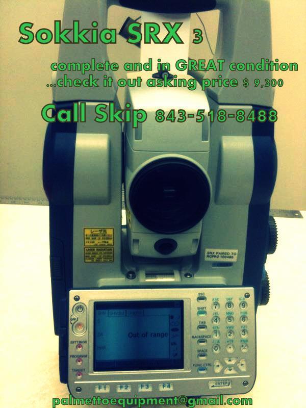 Sokkia SRX 3 Robotic Total Station