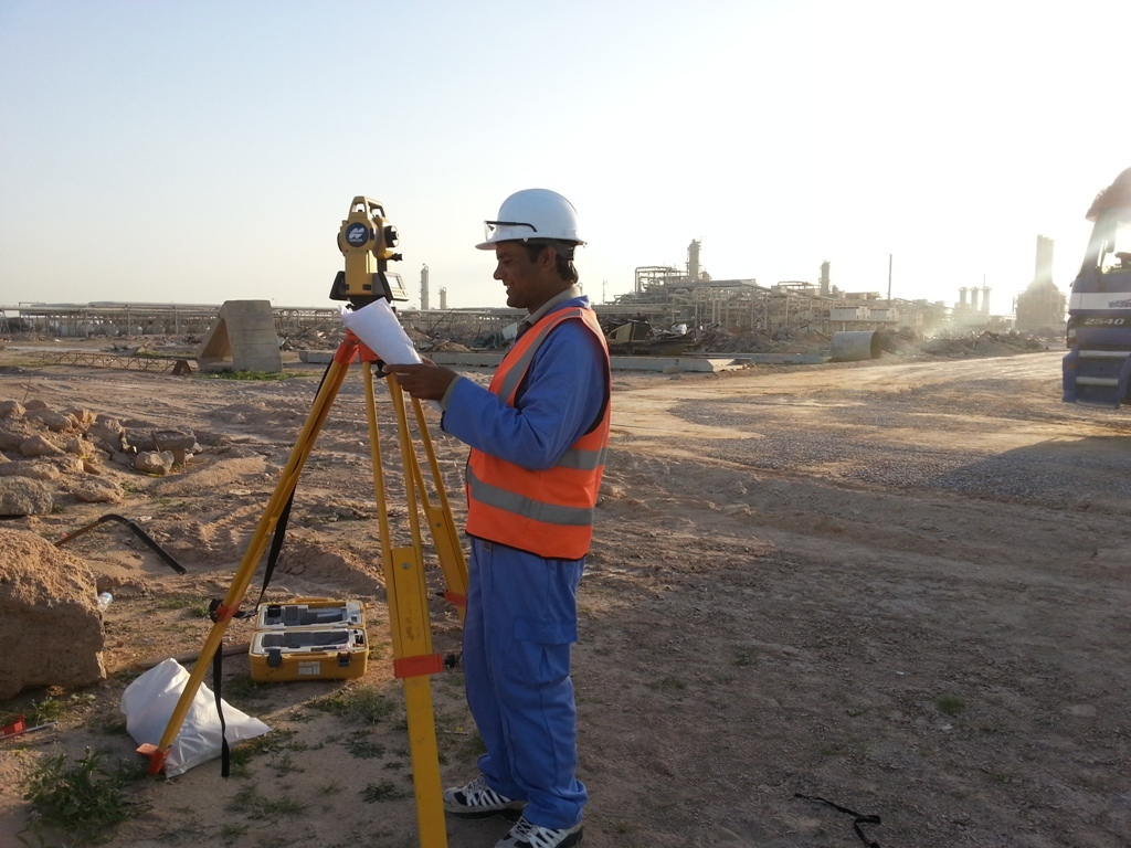 Gas Pipe Line Setting Out Basra Iraq