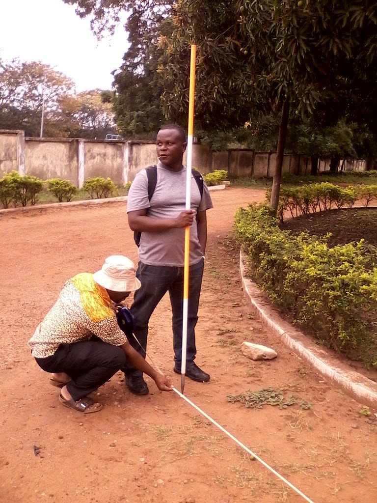 a student learning to measure distances accurately