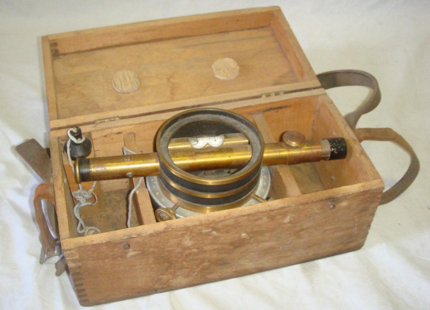 antique survey instrument