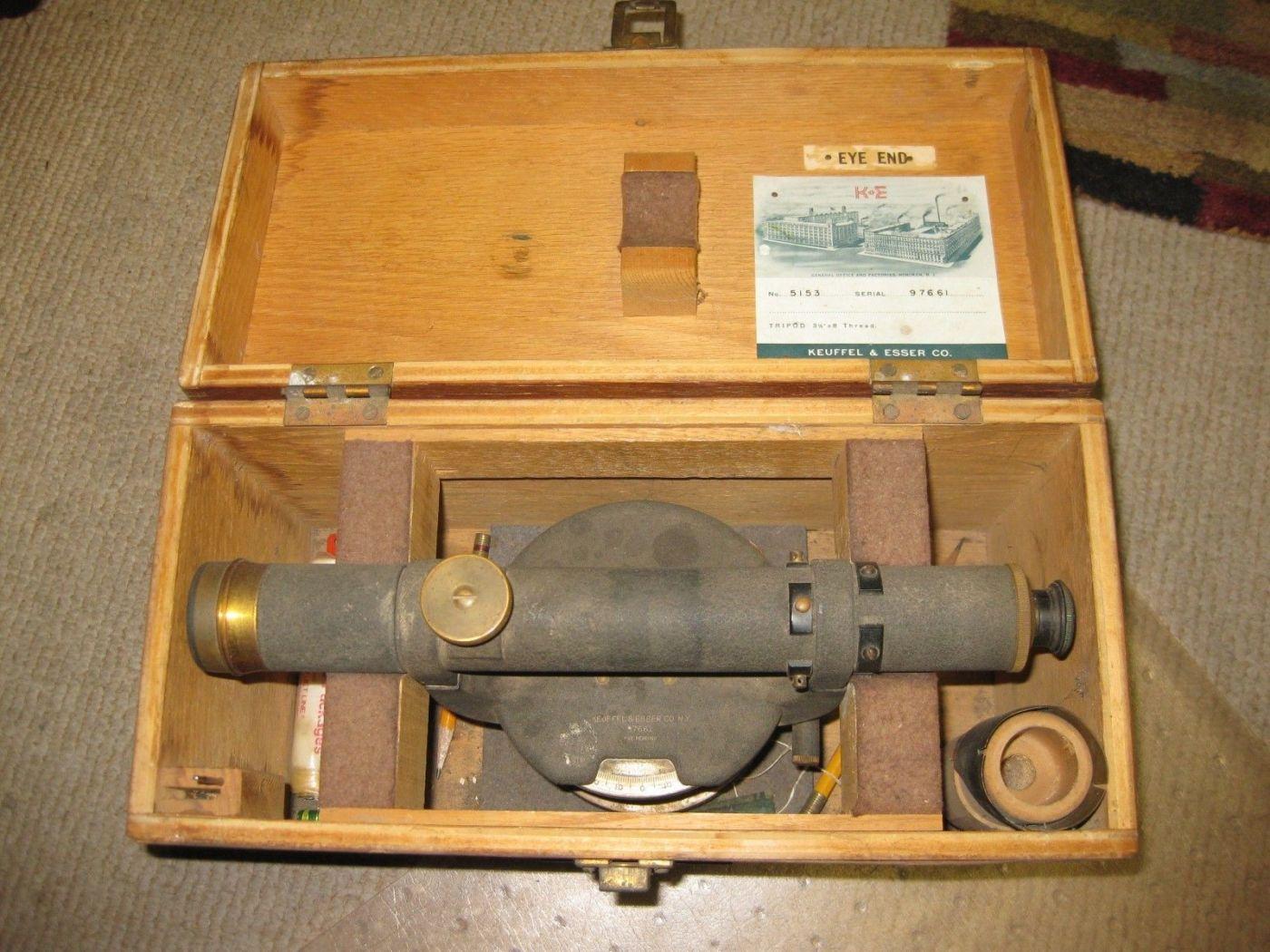 VTG Keuffel Esser Surveying Transit Level 1940s