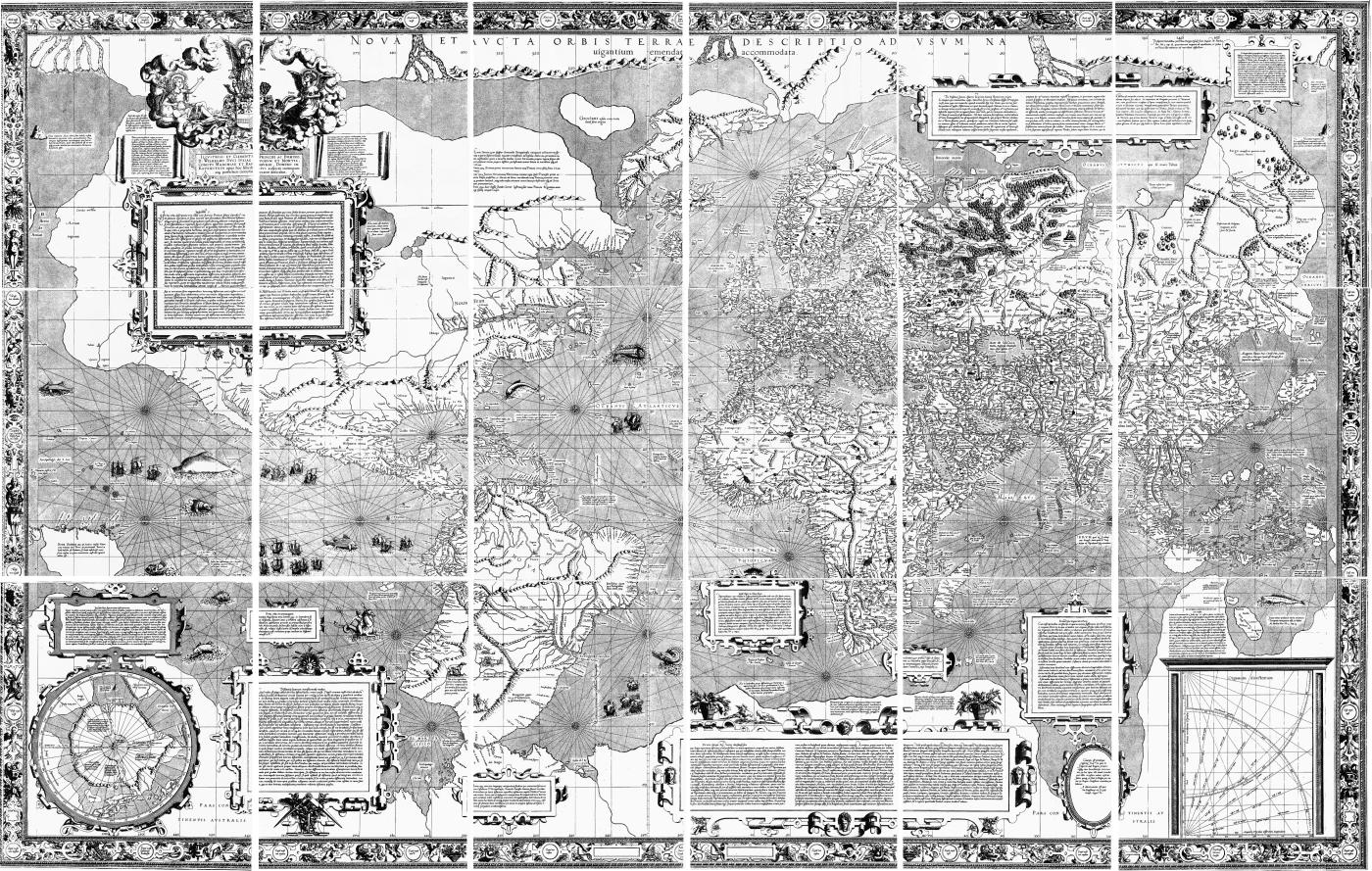 Mercator 1569 world map