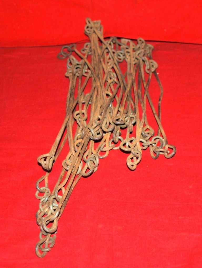 1800s Antique Iron Hand Crafted Survey Chain