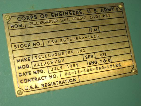 Tellurometer Army Corp