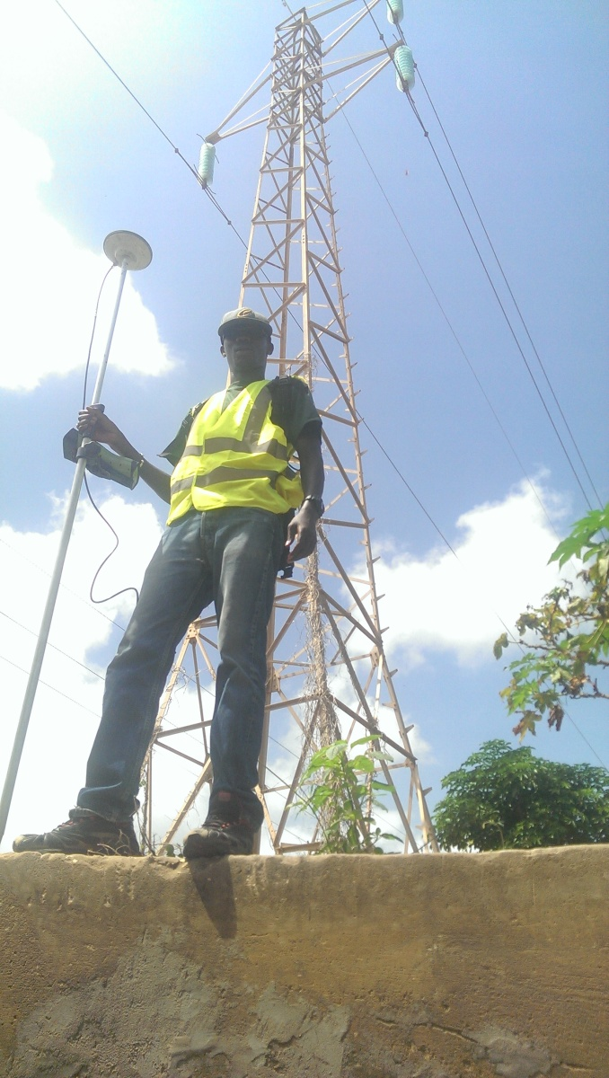 Adama sarr making surveying for stick electricity implementation