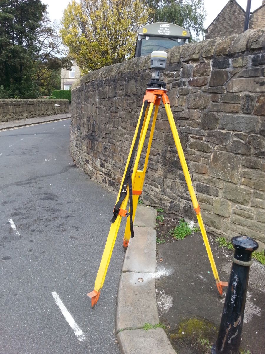 GPS Trimble R10 Measuring New EABM's around New Mills England