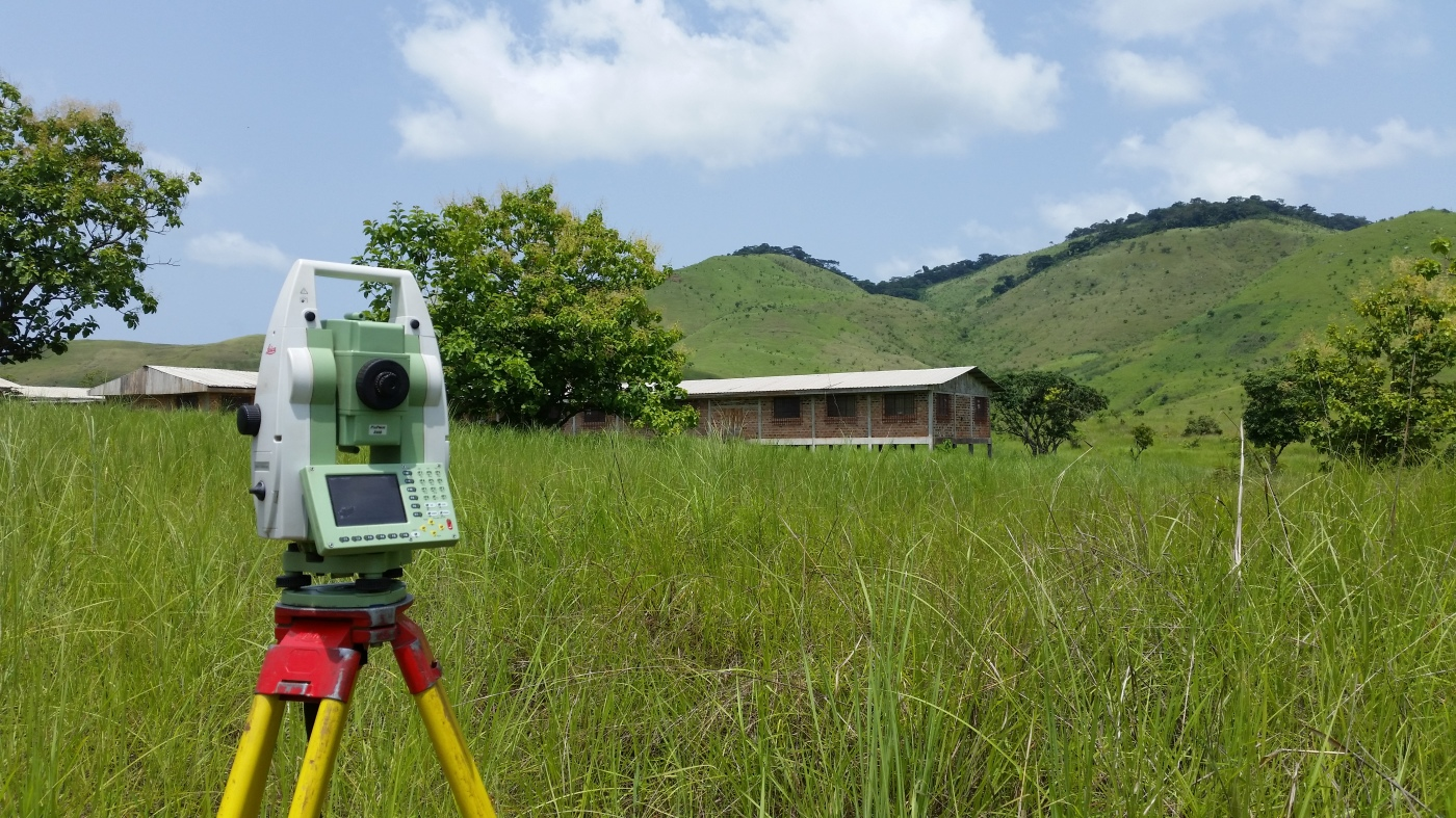 Surveying Aubeville Camp with Leica TCRA 1205