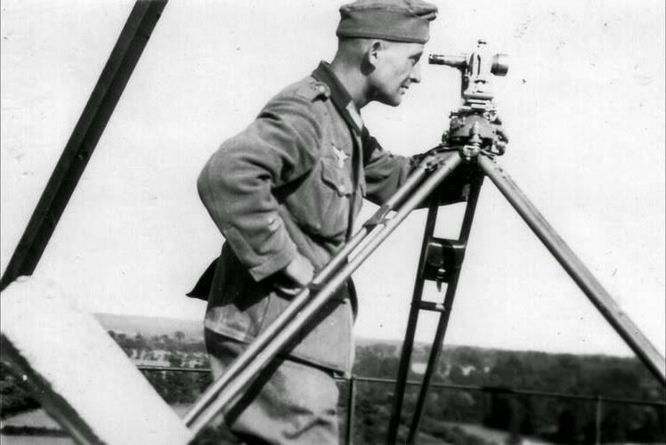 german surveyor at normandy