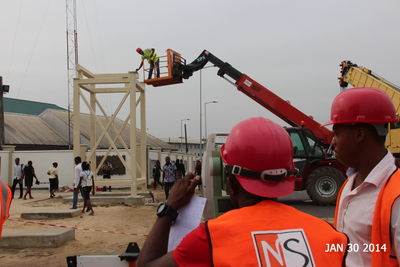 Pedestrian Bridge Installation at Univesity of Uyo, Nigeria