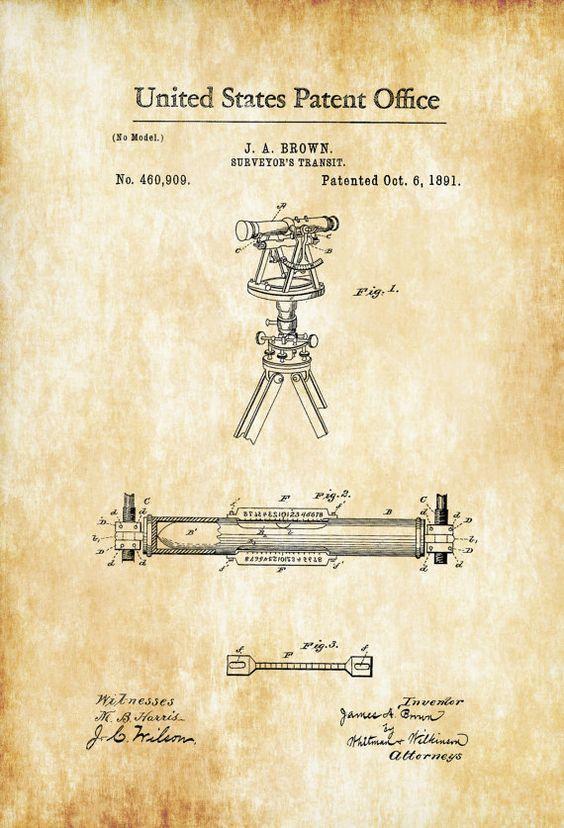 Surveyors Transit- Patent-1891