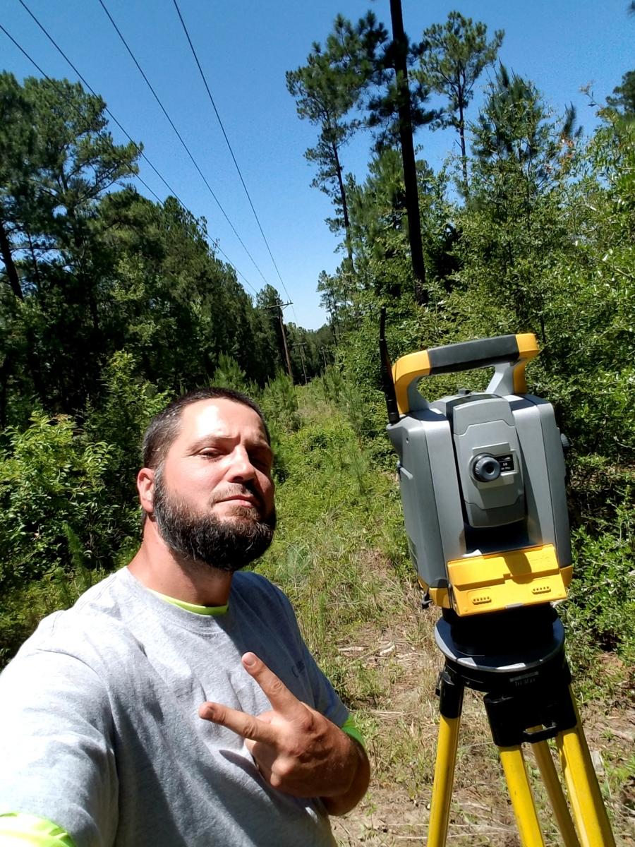 Power line easement survey