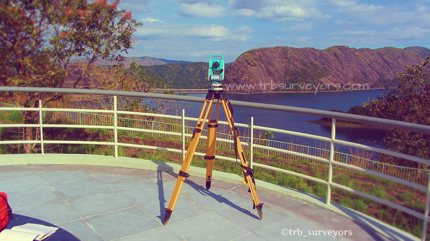 Survey works done at Idukki DAM,Kerala,India