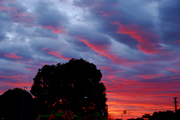 Sunset on my house