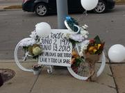 Ghost Bike Installation Ceremony for Raul Ortiz-Gomez 10-20-18