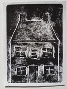house collagraph