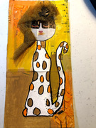 Crazy cat from Norma Soulet! Love!