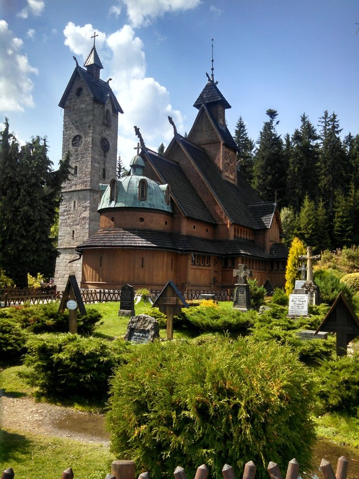 The Stave Wooden Church Wang in Karpacz / Poland.