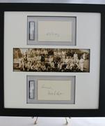 1929 NY Yankees Panoramic Print w/ Bill Dickey & Waite Hoyt PSA/DNA Slabbed Autographs