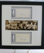 1929 NY Yankees Panoramic Print w/ Bill Dickey & Waite Hoyt PSA/DNA Slabbed Autographs