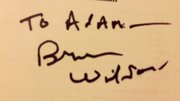 Brian Wilson signed I Am Brian Wilson Autobiography. To Adam-- Brian Wilson.