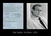 The Night Stalker Darren McGavin 1972 Studio 8x10 with 1972 DS