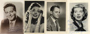 PRESENTING THE HONEYMOONERS COMPLETE VINTAGE CAST SIGNED PHOTO SET C. 1950 - 1958 Collected from 1978 - 2018