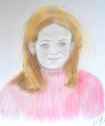 Irish Girl pastel and graphite on paper RLO dec 2018
