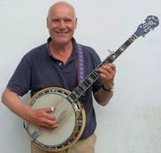 David Cotton playing banjo