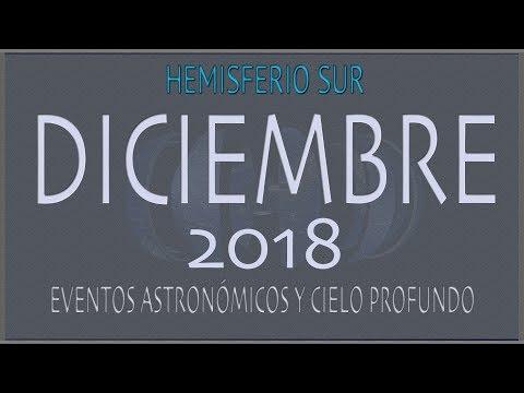 CIELO DE DICIEMBRE 2018. HEMISFERIO SUR