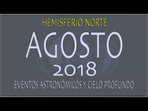 CIELO DE AGOSTO 2018. HEMISFERIO NORTE