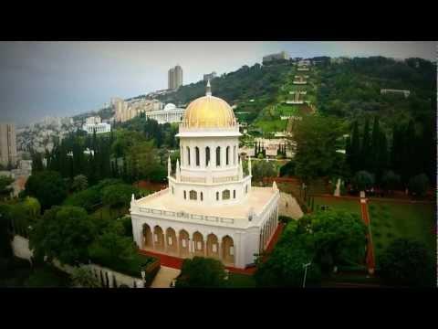 Bahai Gardens, Haifa - Aerial view