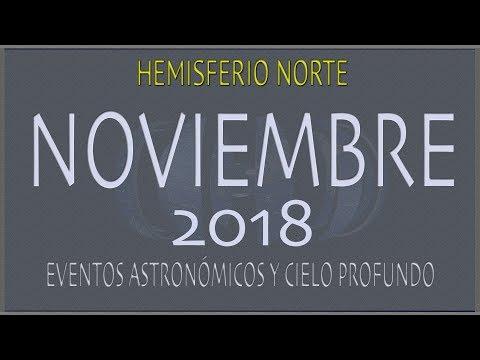 CIELO DE NOVIEMBRE 2018. HEMISFERIO NORTE