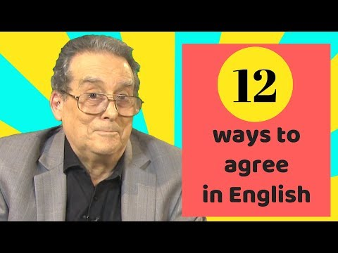 How to agree in English - 12 different ways