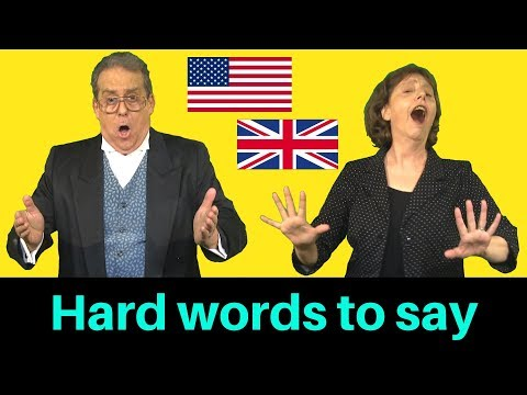 Tricky words to say in British and American English