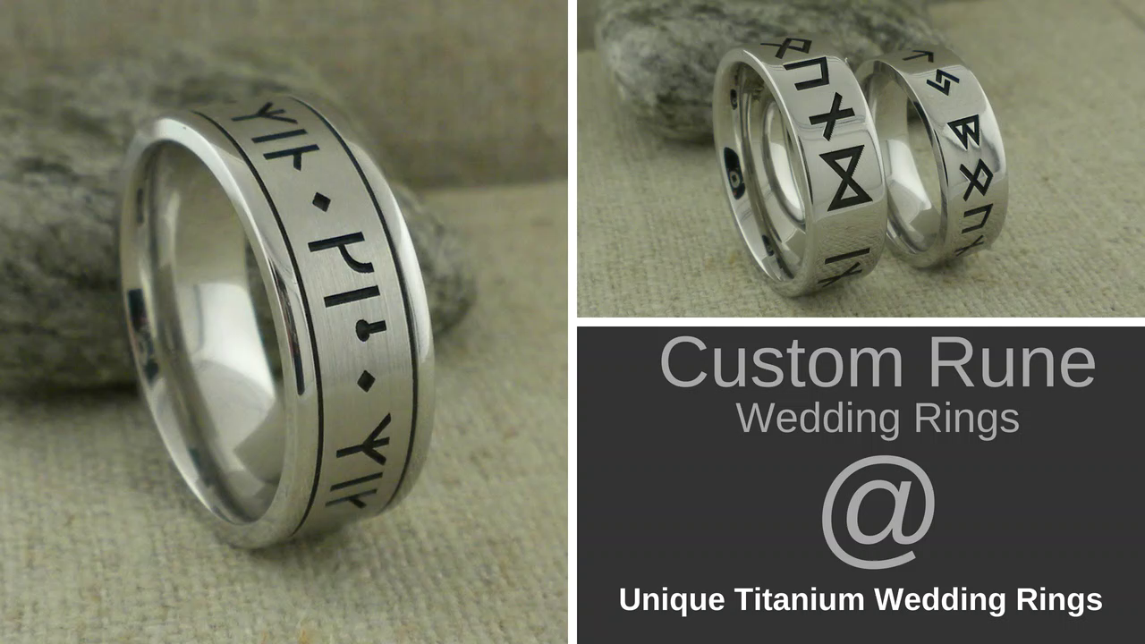 Custom Rune Wedding Bands_Medium