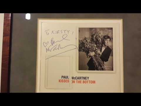 Extremely Rare Full Name Autograph Of Paul McCartney On A Cd Case Of Kisses On The Bottom Album