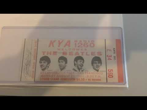 Full Unused Ticket For The Beatles Historic 1966 Candlestick Park Concert With A Perry Cox LOA