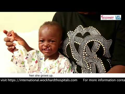 BABY GRACE ADIGUN FROM NIGERIA CAME IN INDIA FOR TREATMENT
