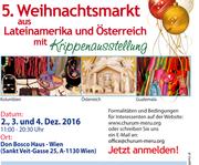 5. Weihnachtsmarkt aus Lateianmerika und Österreich